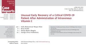 Wyzdrowienie z COVID-19 po dożylnym podaniu witaminy C